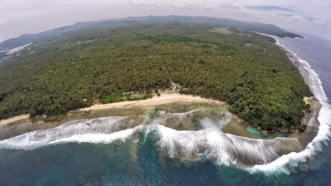 Breathtaking aerial shot of Magpupungko