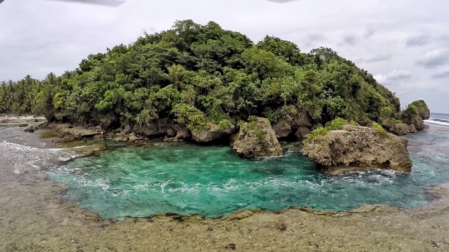 One of the rock pools of Magpupungko.